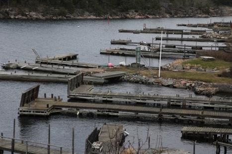 Tomma bryggor Sandhamn