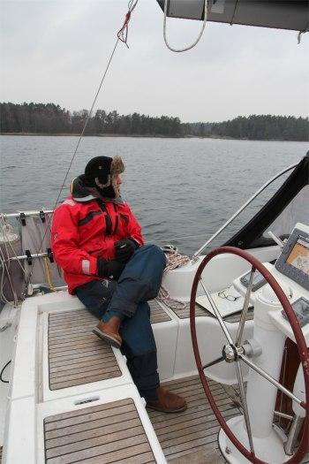 Seglare på väg mot Vaxholm